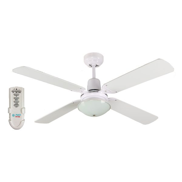 Fias ramo 48 inch ceiling fan with light and remote control white fias ramo 48 inch ceiling fan with light and remote control white aloadofball Gallery