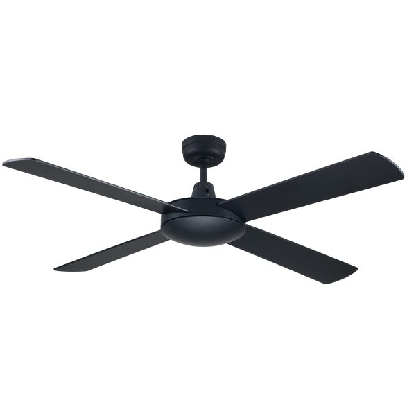 Fias genesis 52 inch ceiling fan black fias lighting fias genesis 52 inch ceiling fan black aloadofball Images