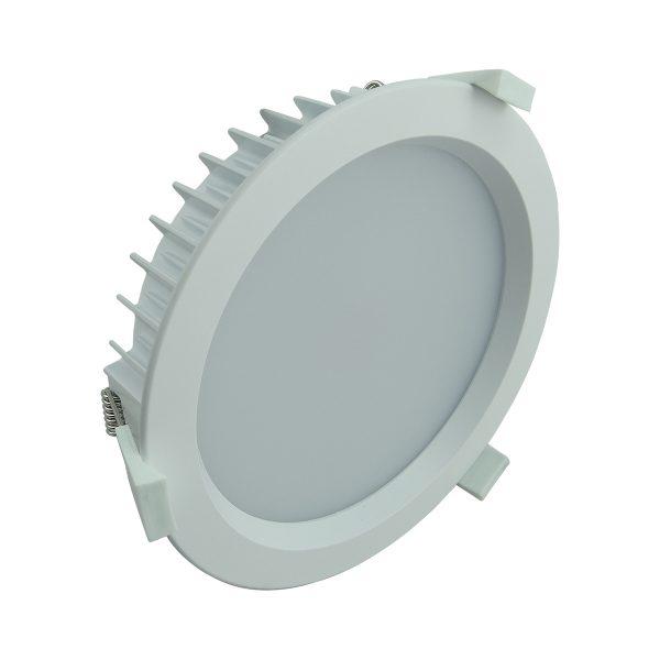 35 Watt LED Shoplight Kit Round White frame in Cool White 200mm ...