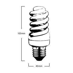 15w e27 T2 Globe Specifications