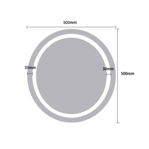 LED Round Small Mirror Light - Dimensions 50cm - MIR1001