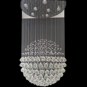 1 Ball Tier String Chandelier 600mm - CRP1006