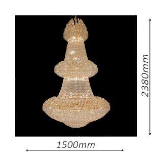 Grande 1500 Gold Chandelier - CRPGRA811500GD