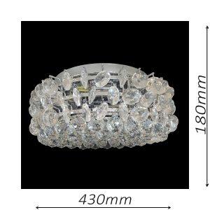 Musluk 430 Chrome Ceiling Light - CTCMUS04430CH