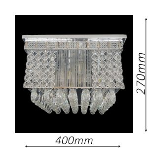 Stafford 400 Chrome Ceiling Light - CTCSTA06400CH