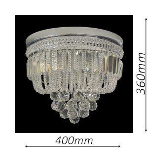Warwick 400 Chrome Ceiling Light - CTCWAR06400CH