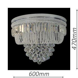 Warwick 600 Chrome Ceiling Light - CTCWAR11600CH