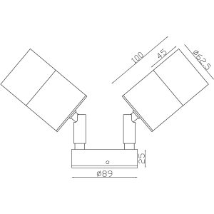 316 Stainless Steel Exterior Double Adjustable Dimensions - EXTDA316