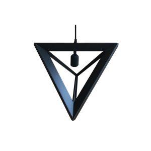 Pyramid 370 Black Pendant Light - P1047PYRAMID370B