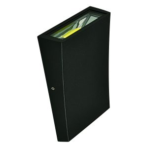 Curve Down LED Integrated External Light in Black