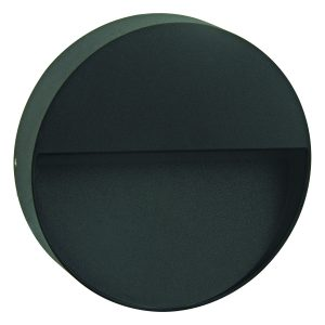 Calam Round LED Integrated External Light Black